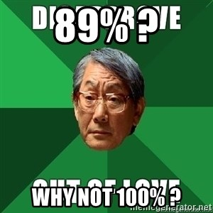 High Expectation Asian Father - 89% ? Why not 100% ?