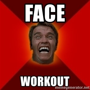 Angry Arnold - face workout