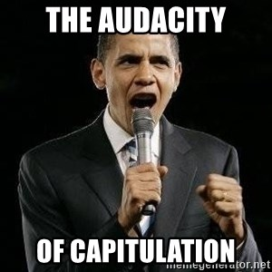 Expressive Obama - The Audacity of capitulation