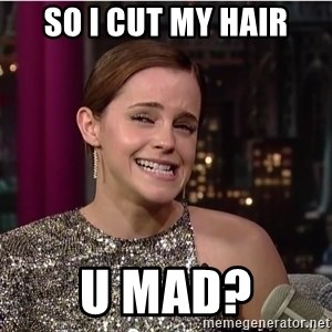 Emma Watson Trollface - So I CUT MY HAIR U MAD?