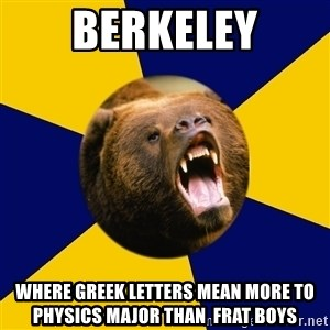 Berkeley Student Bear - Berkeley where greek letters mean more to physics major than  frat boys
