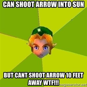Quest Advice Link - can shoot arrow into sun but cant shoot arrow 10 feet away wtf!!!