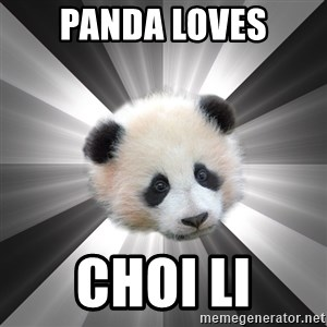 Regretting panda - panda loves choi li