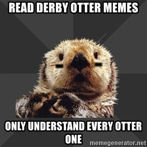 Roller Derby Otter - Read Derby otter memes only understand every otter one