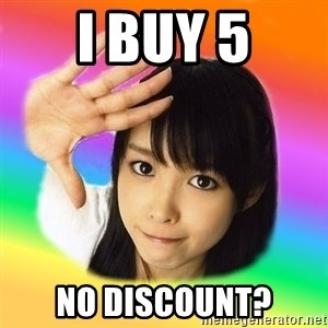j-pop fangirl - I BUY 5 NO DISCOUNT?