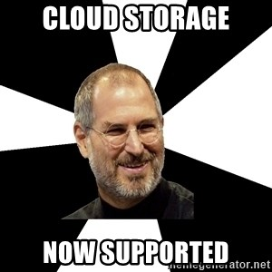 Steve Jobs Says - Cloud storage now supported