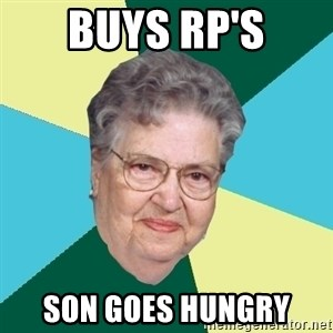 Hilda de Caballito - buys rp's son goes hungry