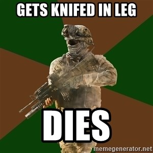 Call Of Duty Addict - Gets knifed in leg dies