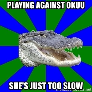 Noob Hisoutensoku Alligator - playing against okuu she's just too slow