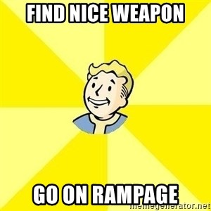 Fallout 3 - FIND NICE WEAPON GO ON RAMPAGE