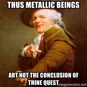 Joseph Ducreux - thus metallic beings art not the conclusion of thine quest