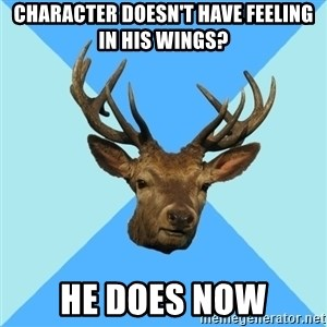 Smut Player Stag - CHARACTER DOESN'T HAVE FEELING IN HIS WINGS? HE DOES NOW