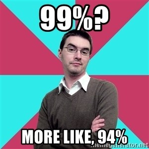 Privilege Denying Dude - 99%? more like, 94%