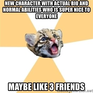 facebook roleplay ocelot - new character with actual bio and normal abilities who is super nice to everyone maybe like 3 friends