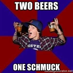 Sunny Student - two beers one schmuck