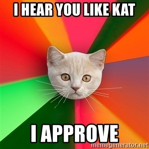 Advice Cat - i hear you like kat i approve