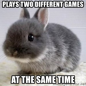 ADHD Bunny - plays two different games at the same time