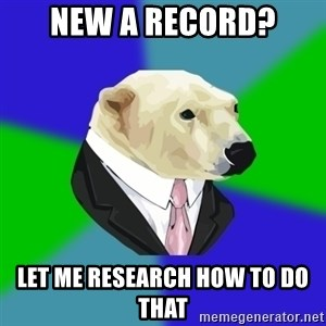 Polar Employee Bear - NEW A RECORD? LET ME RESEARCH HOW TO DO THAT