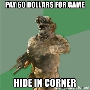 philosoraptor call of duty - Pay 60 dollars for game hide in corner