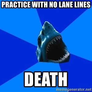 fyeahswimshark - practice with no lane lines death