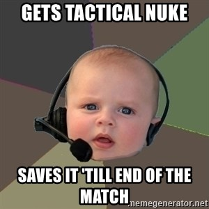 FPS N00b - Gets tactical nuke saves it 'till end of the match