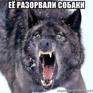 Angry Ass Wolf - её разорвали собаки