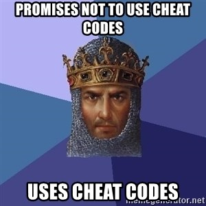 Age Of Empires - promises not to use cheat codes uses cheat codes