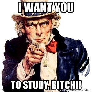 Uncle Sam Point - I WANT YOU TO STUDY, BITCH!!