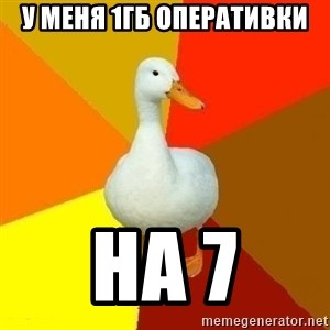Technologically Impaired Duck - у меня 1Гб оперативки на 7