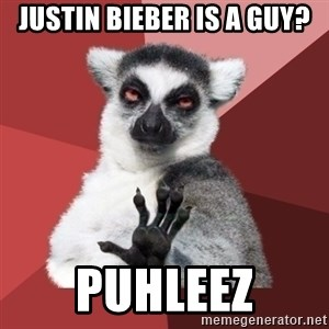 Chill Out Lemur - justin bieber is a guy? puhleez