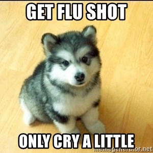 Baby Courage Wolf - Get flu shot only cry a little