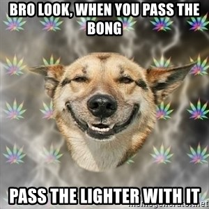 Stoner Dog - bro look, when you pass the bong pass the lighter with it