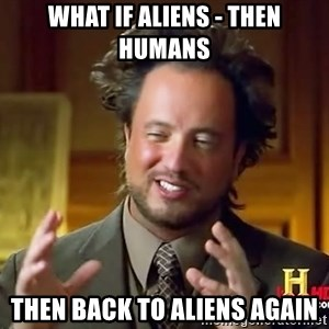 Giorgio A Tsoukalos Hair - what if aliens - then humans then back to aliens again