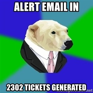 Polar Employee Bear - alert Email In 2302 Tickets generated