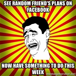 Yao Ming trollface - see random friend's plans on facebook Now Have Something to do this week