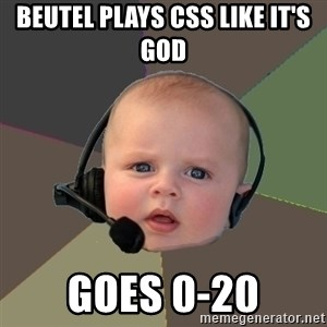 FPS N00b - beutel plays css like it's god goes 0-20
