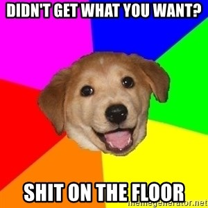 Advice Dog - didn't get what you want? shit on the floor