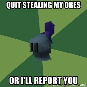 Runefag - Quit stealing my ores or i'll report you