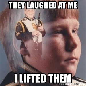 PTSD Clarinet Boy - they laughed at me i lifted them