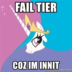 Celestia - fail tier coz im innit