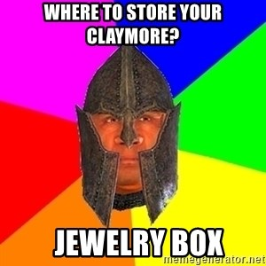 Oblivion - Where to Store your claymore?   Jewelry Box