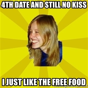 Trologirl - 4th date and still no kiss I just like the free food