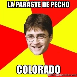 cheeky harry potter - la paraste de pecho colorado