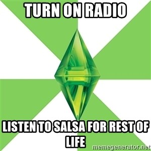 The Sims Anti-Social - Turn On Radio Listen To Salsa For Rest Of Life