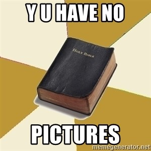 Denial Bible - y U HAVE NO  pICTURES