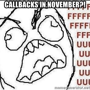 Stelios Fuuuu - callbacks in november?!
