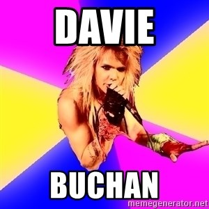 Glam Rocker - Davie Buchan