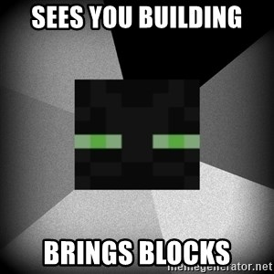 Enderman 1.8 - Sees you building Brings blocks