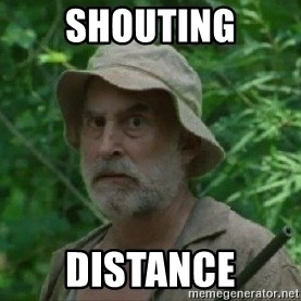 The Dale Face - shouting distance