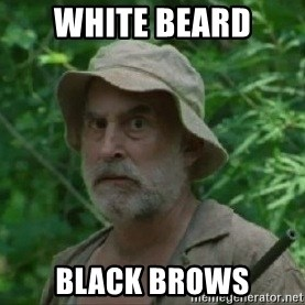 The Dale Face - white beard black brows